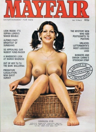 Front cover of Mayfair Volume 13 No 3 magazine