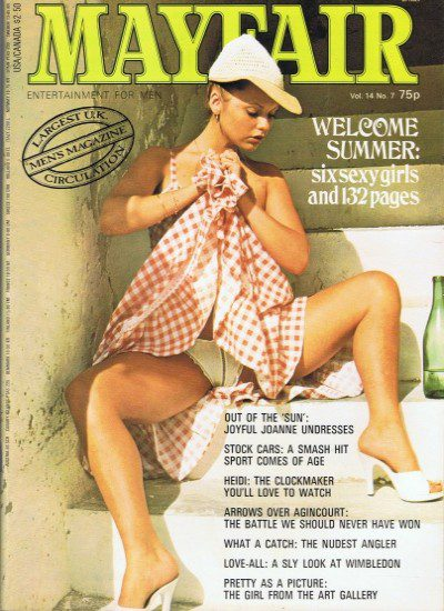 Front cover of Mayfair Volume 14 No 7 magazine