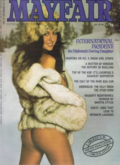 Front cover of Mayfair Volume 15 No 2 magazine