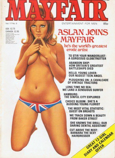 Front cover of Mayfair Volume 17 No 9 magazine