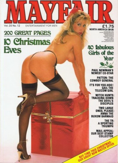 Front cover of Mayfair Volume 20 No 12 magazine