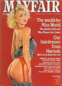 Front cover of Mayfair Volume 21 No 6 magazine