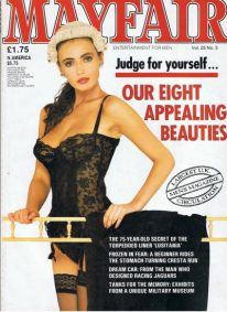 Front cover of Mayfair Volume 25 No 3 magazine