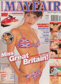 Front cover of Mayfair Volume 33 No 12 magazine