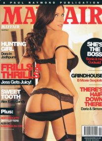 Front cover of Mayfair Volume 43 No 2 magazine