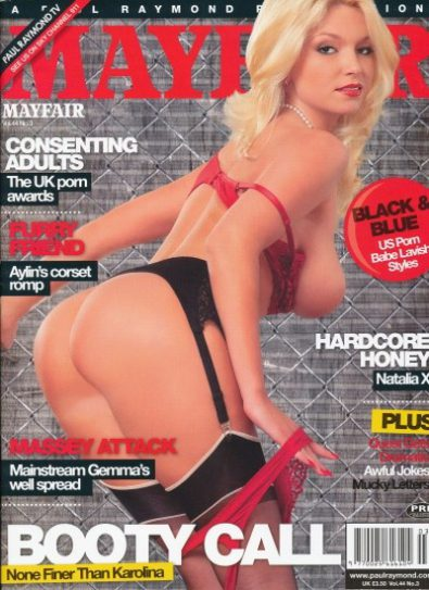 Front cover of Mayfair Volume 44 No 3 magazine