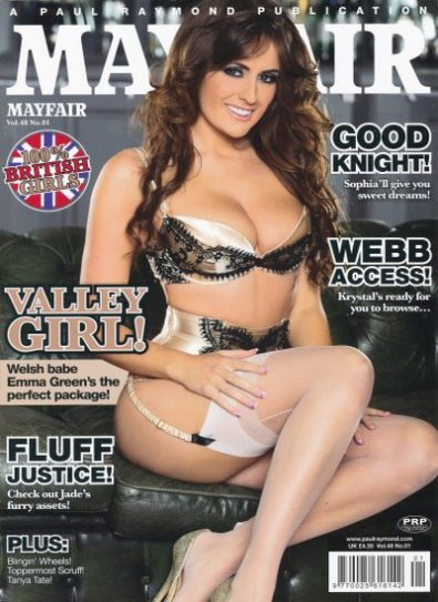 Front cover of Mayfair Vol 48 No 1 magazine