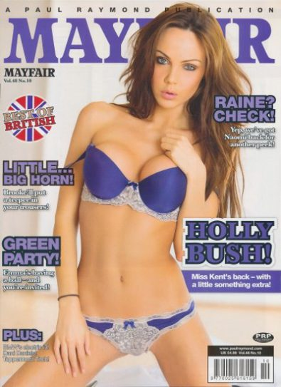 Front cover of Mayfair Vol 48 No 10 magazine