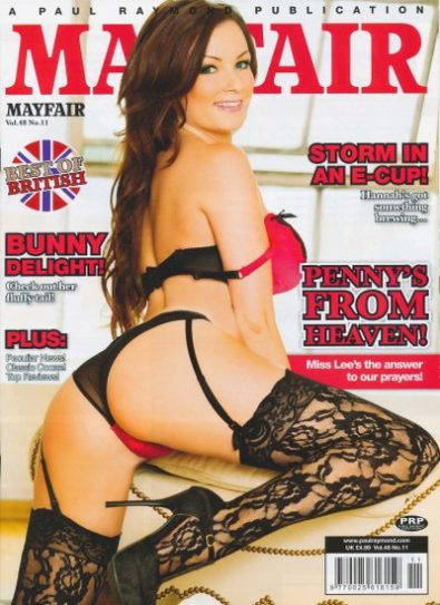 Front cover of Mayfair Vol 48 No 11 magazine
