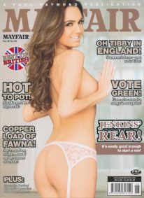 Front cover of Mayfair Volume 48 No 6 magazine