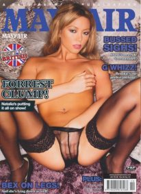 Front cover of Mayfair Vol 49 No 10 magazine