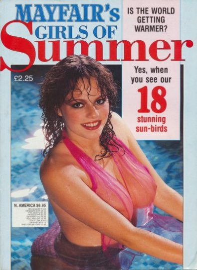 Front cover of Mayfair Girls of Summer No 3 magazine