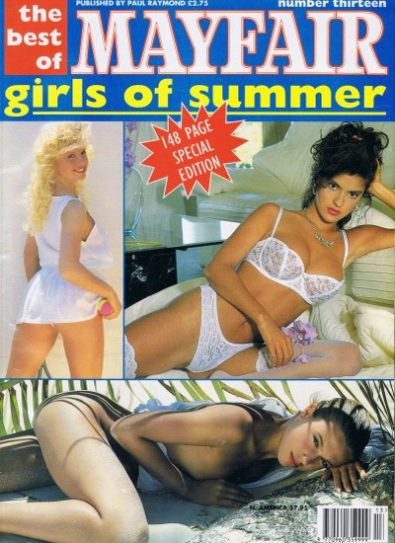 Front cover of Mayfair Girls of Summer No 13 magazine