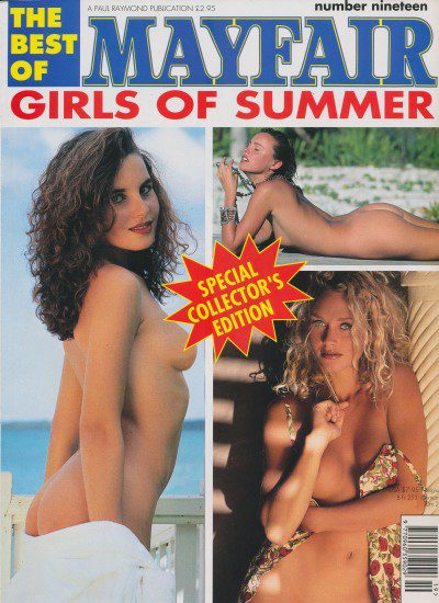 Front cover of Mayfair Girls of Summer No 19 magazine