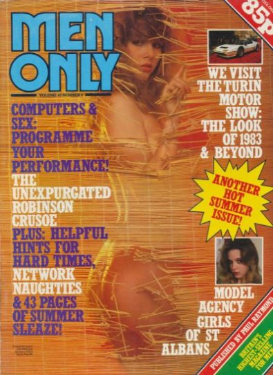 Front cover of Men Only Volume 47 No 8 magazine