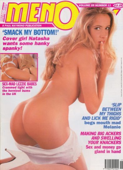 Front cover of Men Only Volume 59 No 11 magazine