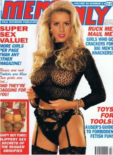 Front cover of Men Only Volume 59 No 2 magazine