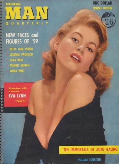 Front cover of Modern Man Spring 1959 magazine