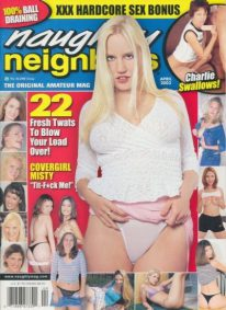 Front cover of Naughty Neighbors April 2003 magazine