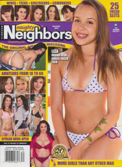 Front cover of Naughty Neighbors Holiday 2015 magazine