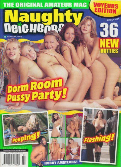 Front cover of Naughty Neighbours March 2004 magazine