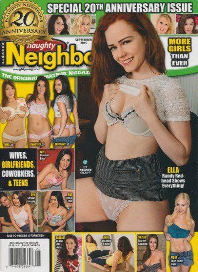 Front cover of Naughty Neighbors September 2015 magazine