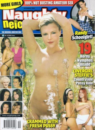 Front cover of Naughty Neighbors Dec 2002 magazine
