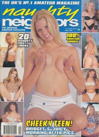 Front cover of Naughty Neighbors April 1999 magazine
