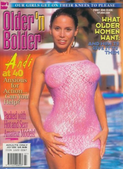 Front cover of Older n Bolder July 2000 magazine