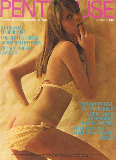 Front cover of Penthouse Volume 10 No 3 magazine