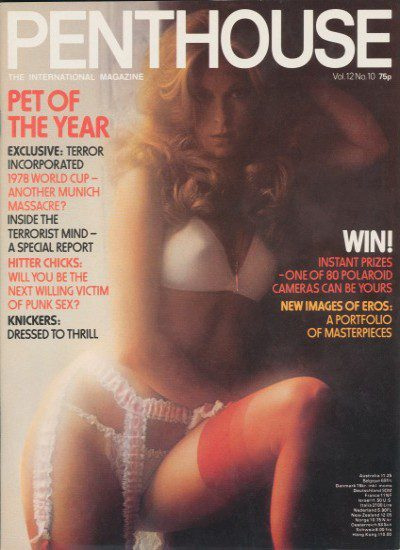Front cover of Penthouse Volume 12 No 10 magazine