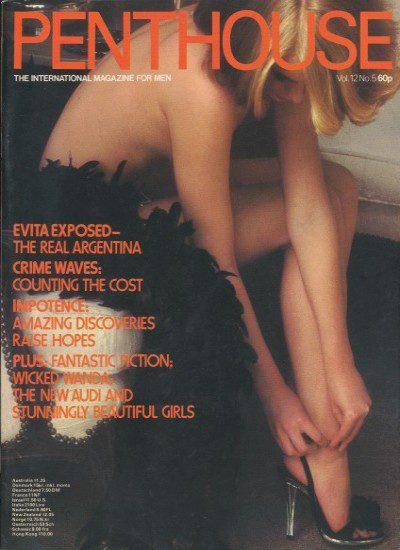 Front cover of Penthouse Volume 12 No 5 magazine