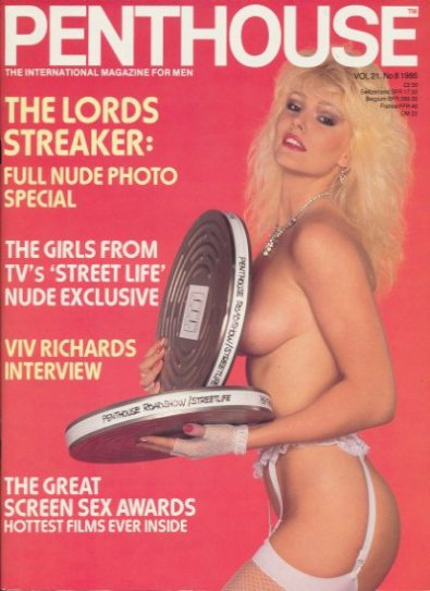 Front cover of Penthouse Volume 21 No 8 magazine