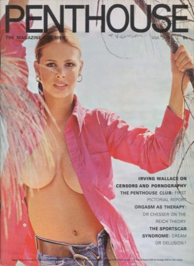 Front cover of Penthouse Volume 5 No 1 magazine
