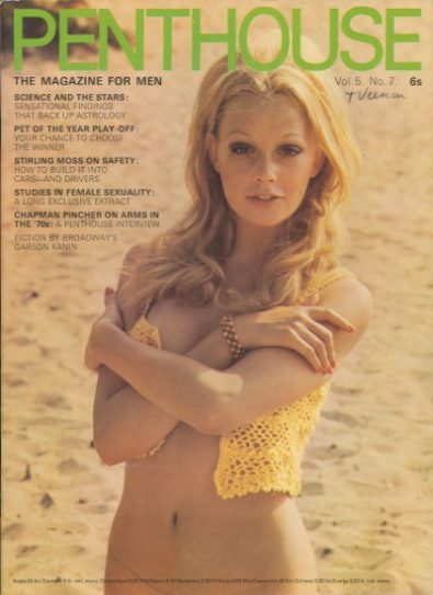 Front cover of Penthouse Volume 5 No 7 magazine