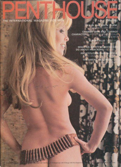 Front cover of Penthouse Volume 6 No 3 magazine