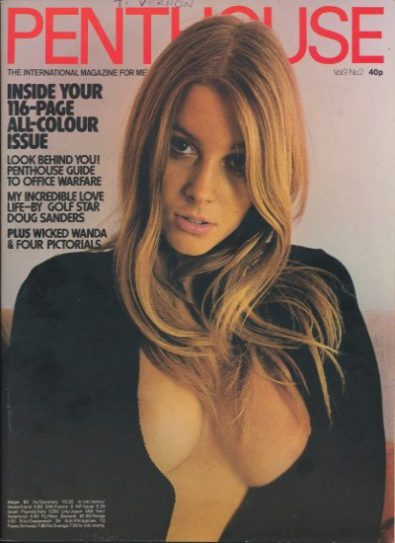 Front cover of Penthouse vol 9 No 2 magazine