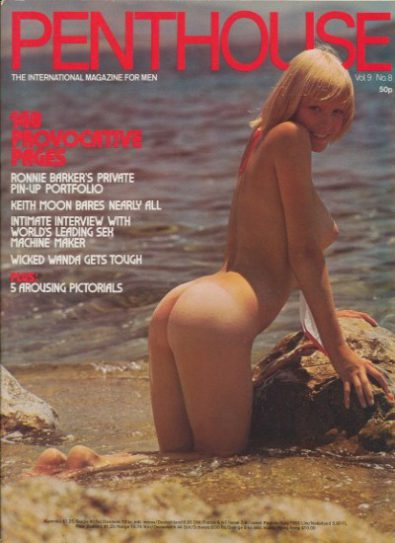 Front cover of Penthouse Volume 9 No 8 magazine