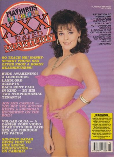 Front cover of Playbirds XXX 76 magazine
