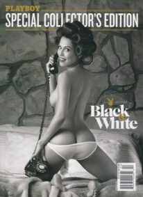 Front cover of Playboys Black & White April 2015 magazine