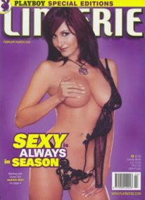 Front cover of Playboy's Book of Lingerie Feb/Mar 2005 magazine