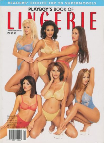 Front cover of Playboy's Book of Lingerie Jan/Feb 1998 magazine