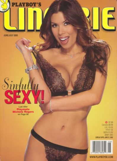 Front cover of Playboy's Lingerie June/July 2005 magazine