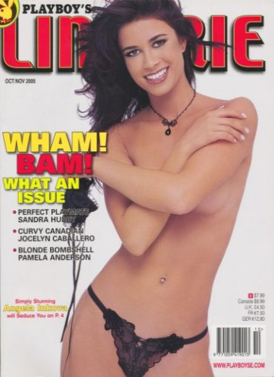 Front cover of Playboy's Book of Lingerie Oct/Nov 2005 magazine