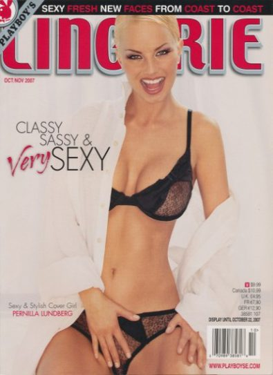 Front cover of Playboy's Lingerie Oct/Nov 2007 magazine