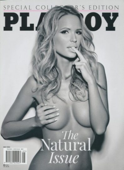 Front cover of Playboy The Natural Issue May 2014 magazine