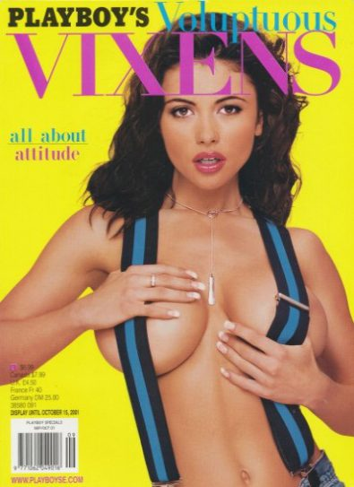 Front cover of Playboy's Vixens October 2001 magazine