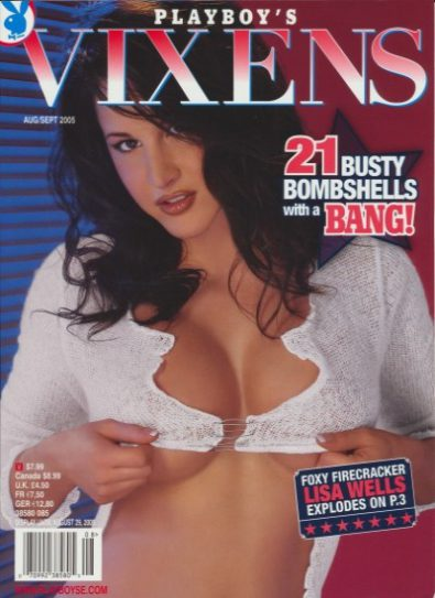 Front cover of Playboy's Vixens August/September 2005 magazine