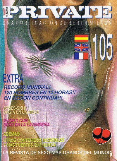 Front cover of Private 105 magazine