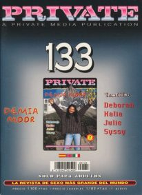 Front cover of Private 133 magazine